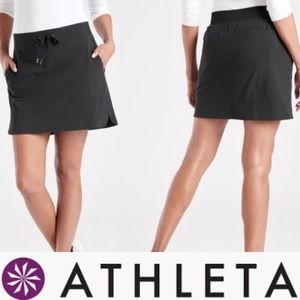 Midtown skirt athleta xl black drawstring